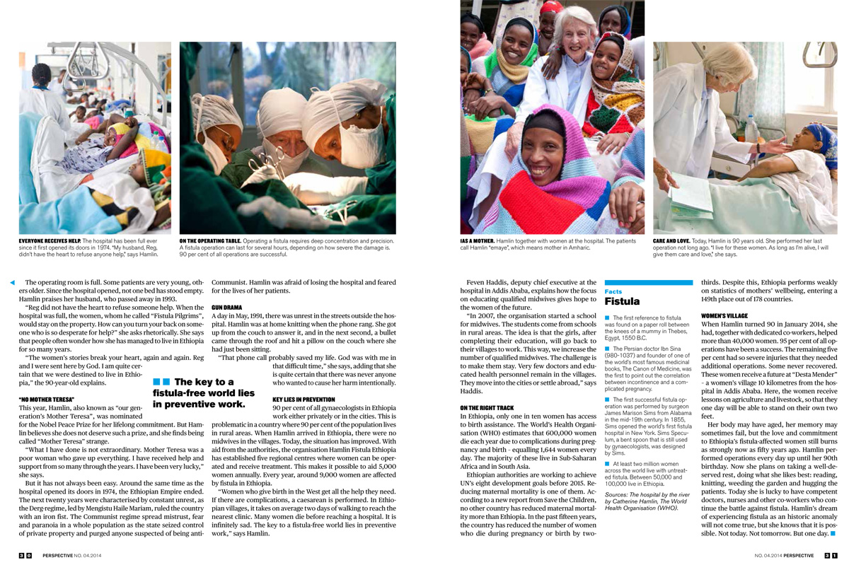 The Mother Theresa of Ethiopia, Published in Perspective Magazine