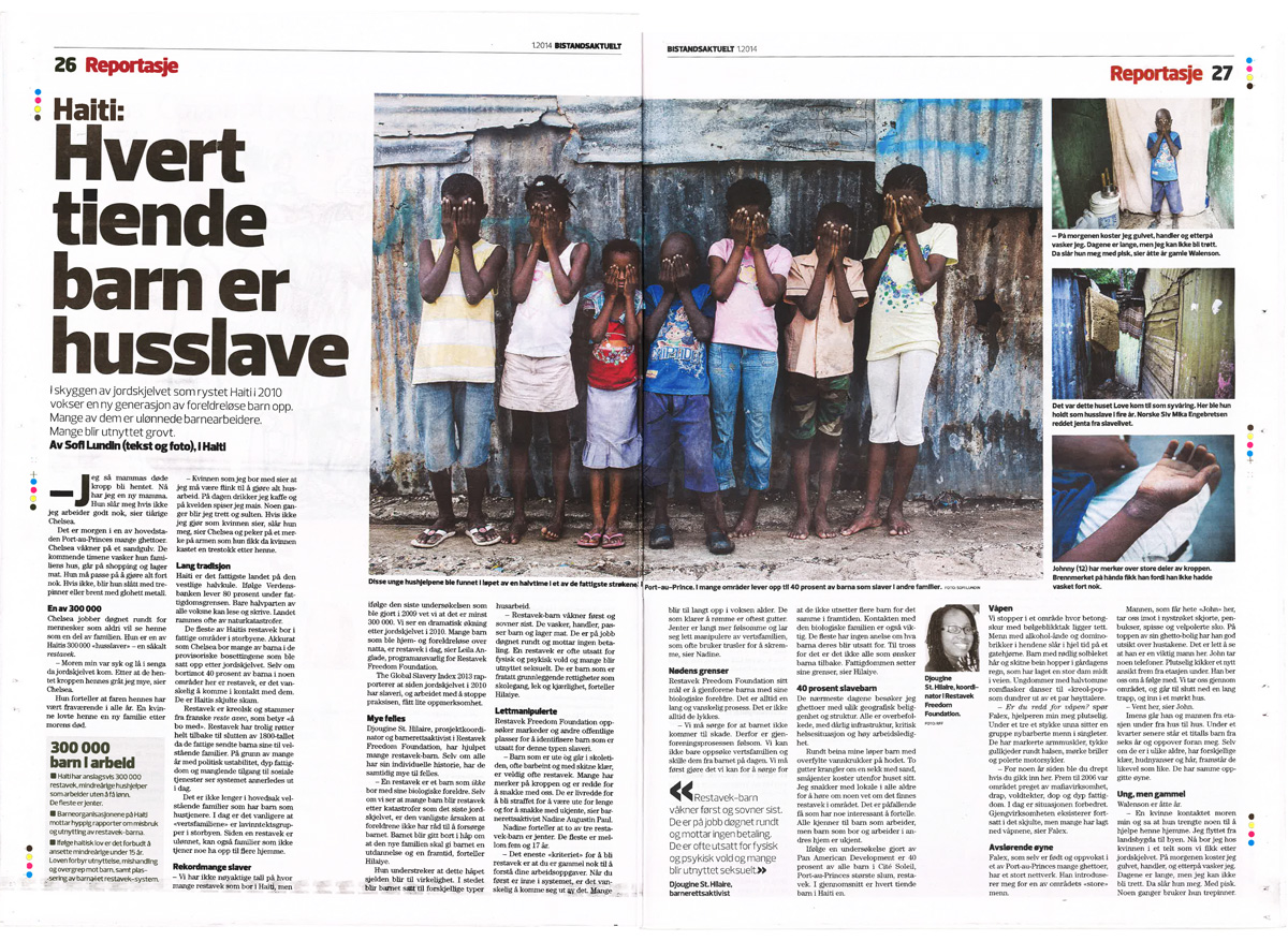 Story from Haiti, published in Bistandsaktuelt