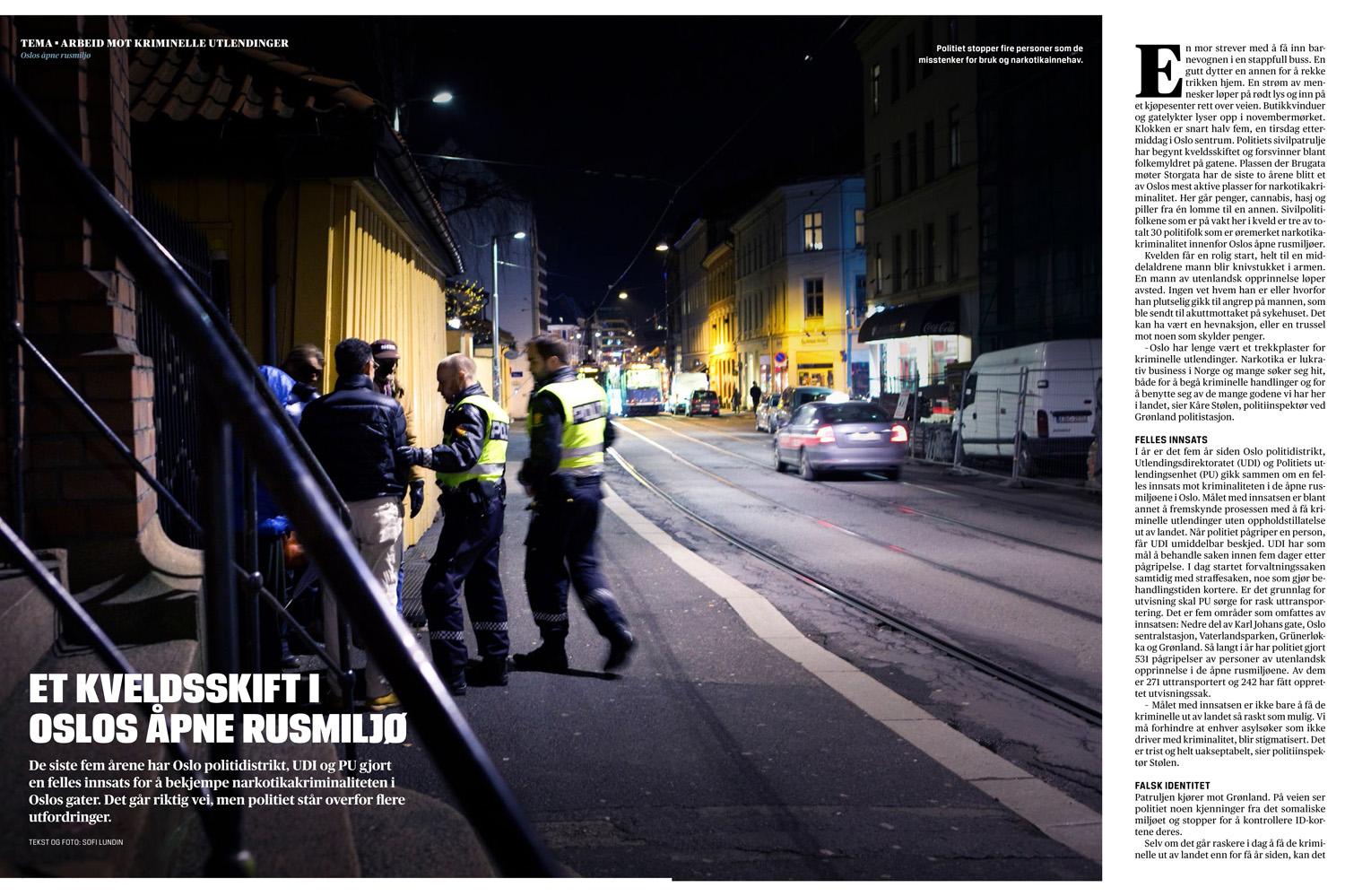 Drug trafficking in Oslo - Magasinet Norsk Politi, 2014