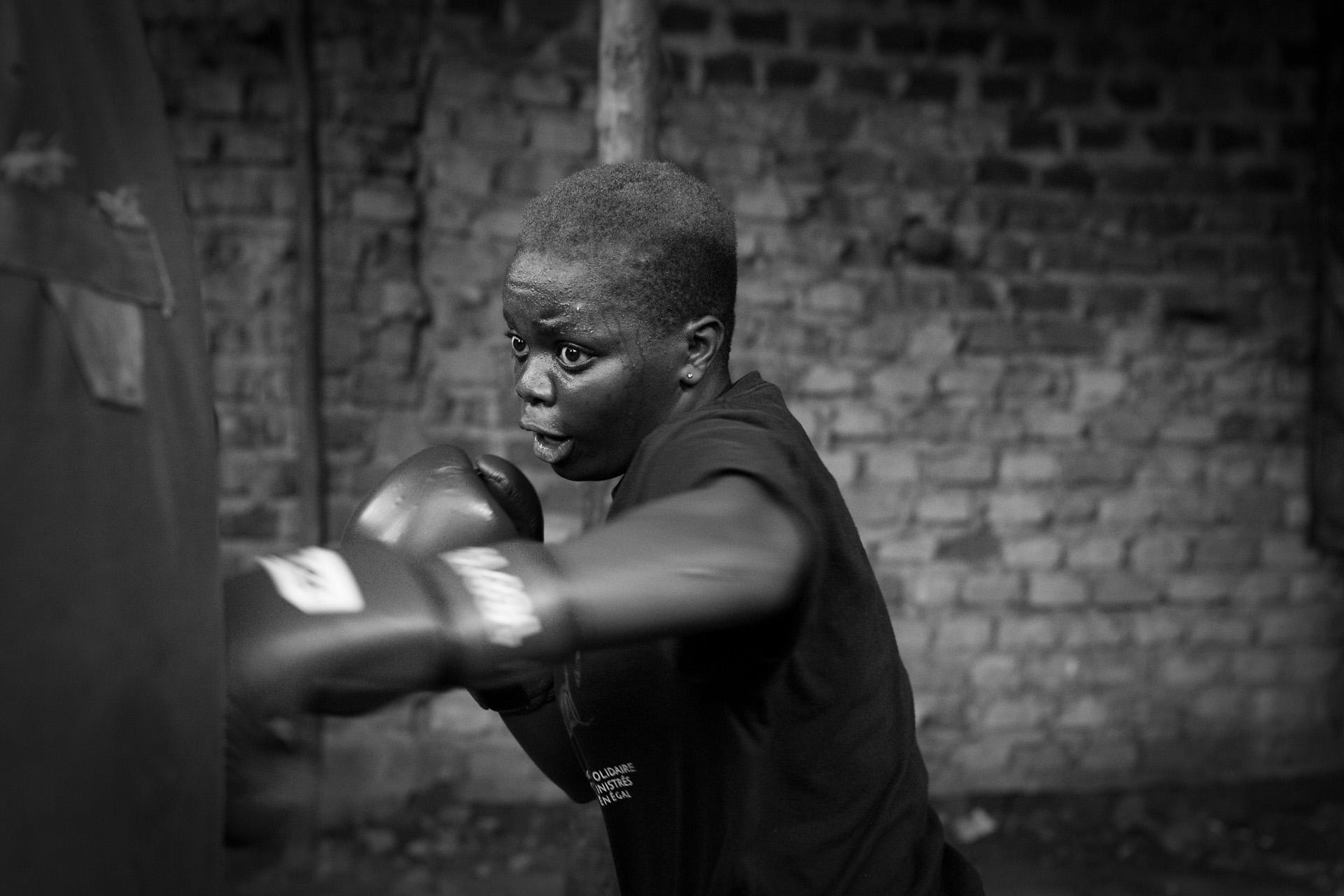 Uganda´s female boxers
