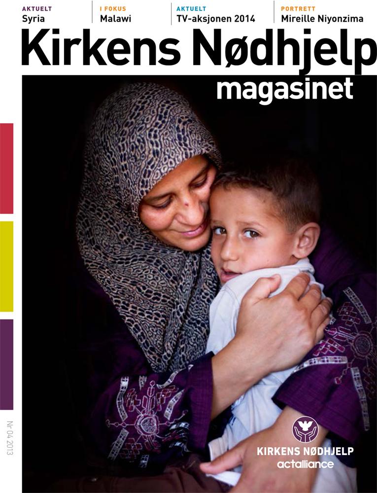 Cover story, Norwegian Church Aid´s magazine