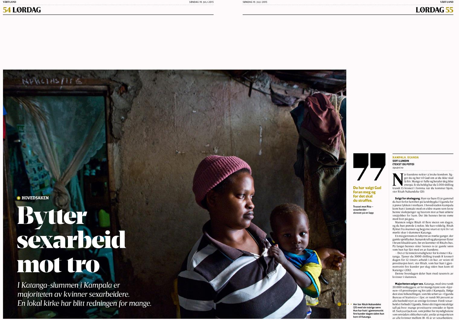 Prostitution in Uganda - Vårt Land, 2015