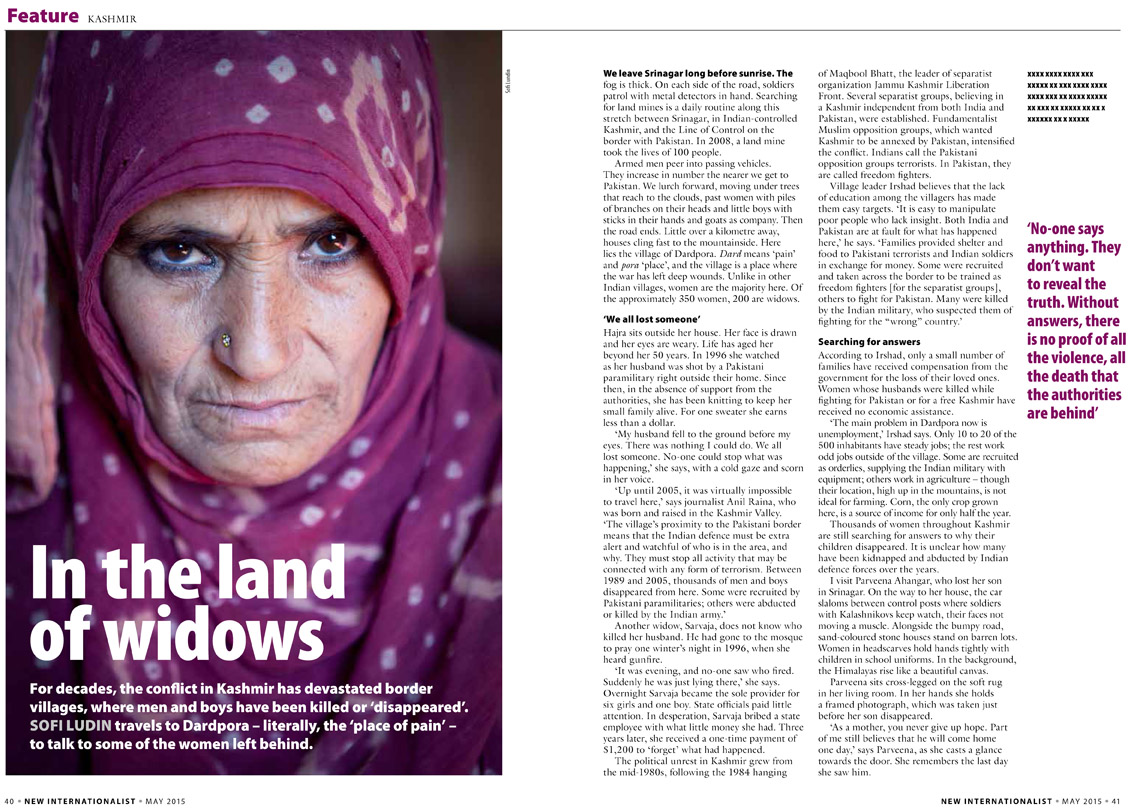 In the land of widows, published in Perspective Magazine