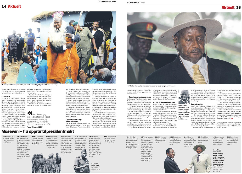 Ugandan Elections - Bistandsaktuelt, 2016