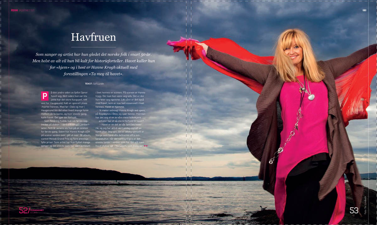 The Norwegian singer and actress Hanne Krogh - RS Magasinet, 2014