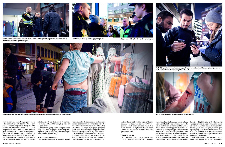 Drug trafficking in Oslo - Magasinet Norsk Politi, 2014
