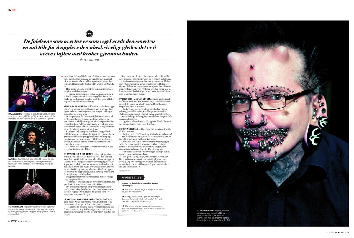 Published in VG Helg