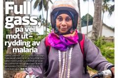 Cover story in Bistandsaktuelt: Zanzibar´s fight to eliminate Malaria