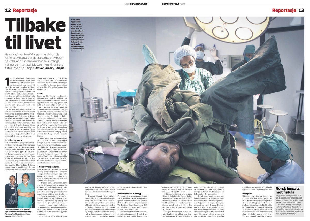 Story from Ethiopia published in Bistandsaktuelt