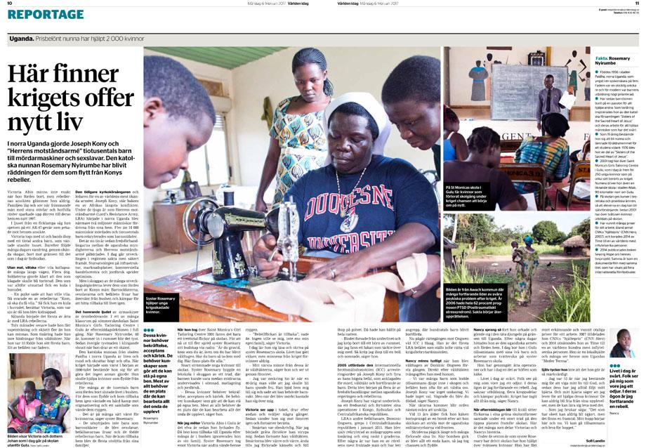 Story from Northern Uganda for Världen idag