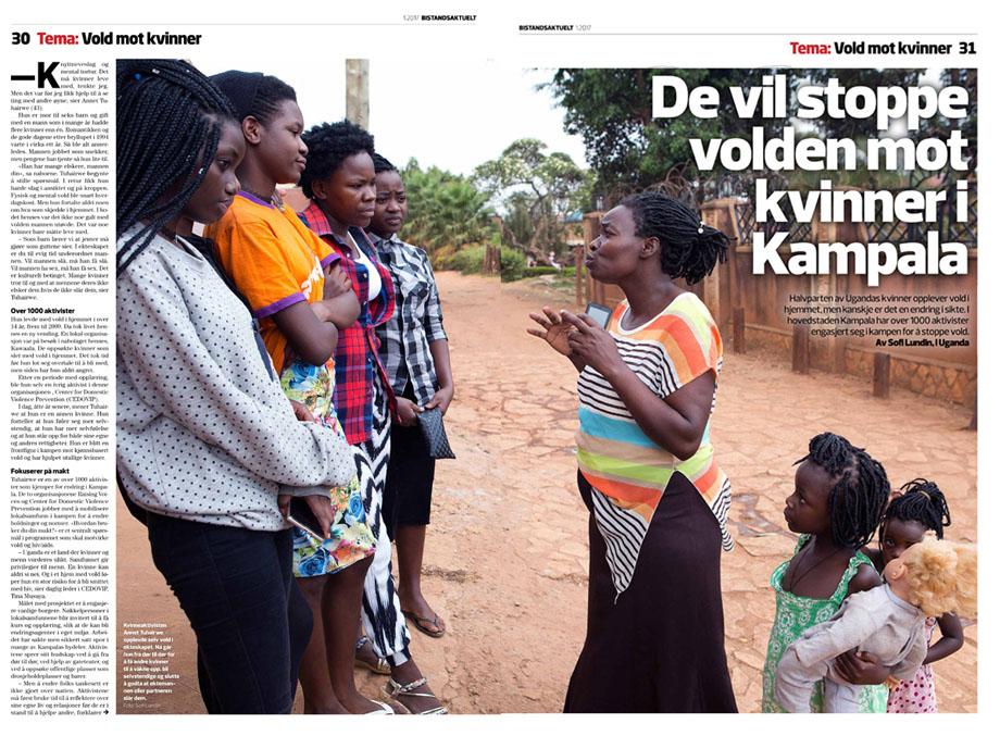 Story on domestic violence. Published in Bistandsaktuelt
